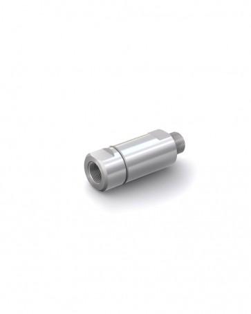 """Clapet anti-retour acier inox - G 1/2"""" mâle / G 1/2"""" femelle - max. 250 bar - DN 14 mm"""