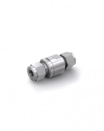 Clapet anti-retour acier inox - tube Ø 10 mm / tube Ø 10 mm - max. 150 bar - DN 6 mm