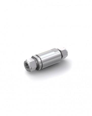 Clapet anti-retour acier inox - tube Ø 16 mm / tube Ø 16 mm - max. 250 bar - DN 14 mm