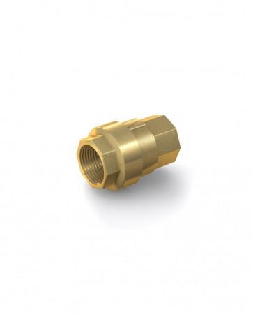 "Clapet anti-retour laiton - G 1/2"" interne / G 1/2"" interne - max. 40 bar - DN 15 mm"