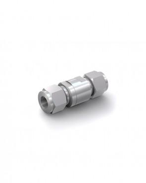 Clapet anti-retour acier inox - tube Ø 12 mm / tube Ø 12 mm - max. 150 bar - DN 6 mm