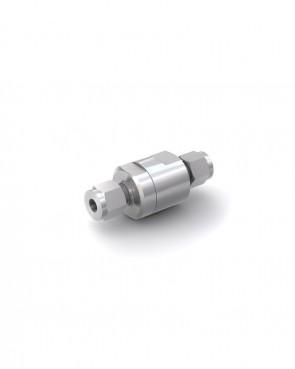 Clapet anti-retour acier inox - tube Ø 6 mm / tube Ø 6 mm - max. 150 bar - DN 5 mm