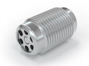 "Clapet anti-retour acier inox - G1/8"" mâle / G 1/8"" mâle - max. 250 bar - DN 3,6 mm"