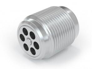 "Clapet anti-retour acier inox - G3/8"" mâle / G 3/8"" mâle  - max. 250 bar - DN 7 mm"